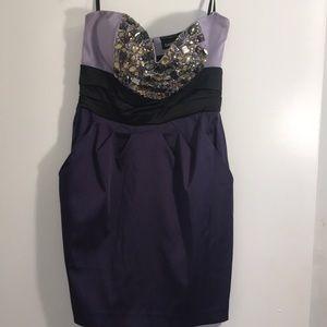 BEBÉ Prom Dress cinched waist size:m
